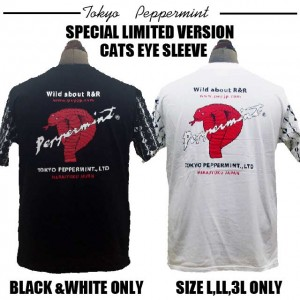 63b29f25be6 超限定発売のCATS EYE袖バックコブラプリントTEE カラー黒・白のみ サイズL